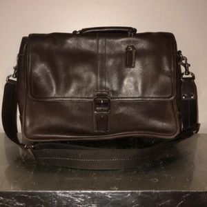 Coach Brown Leather Briefcase